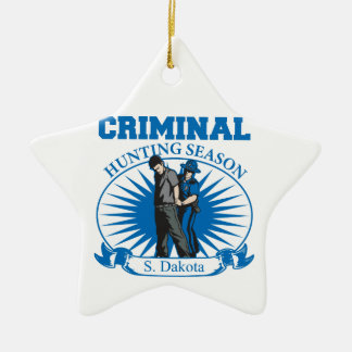 Ornement Étoile En Céramique Saison de chasse criminelle du Dakota du Sud