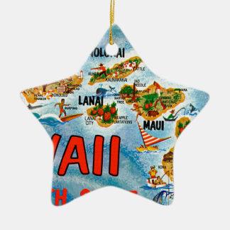 Ornement Étoile En Céramique Salutations d'Hawaï