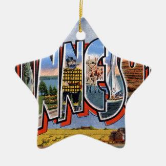 Ornement Étoile En Céramique Salutations du Minnesota