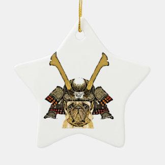 Ornement Étoile En Céramique samurai_pug