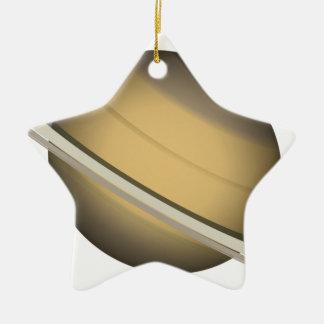 Ornement Étoile En Céramique Saturn