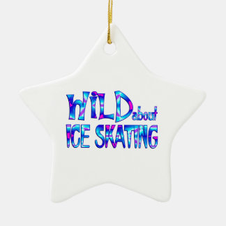 Ornement Étoile En Céramique Sauvage au sujet du patinage de glace