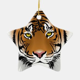 Ornement Étoile En Céramique Sauvez les tigres