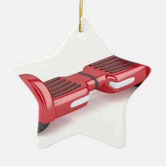 Ornement Étoile En Céramique Scooter de auto-équilibrage rouge