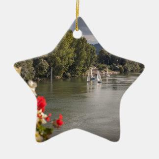Ornement Étoile En Céramique Seine river, paris, France