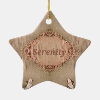 Ornement Étoile En Céramique Sérénité moderne de pêche chic de Tan léger