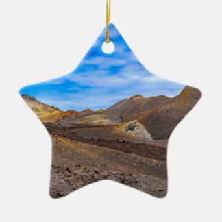 Ornement Étoile En Céramique Sierra paysage de Negra, Galapagos, Equateur