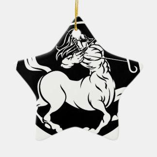 Ornement Étoile En Céramique Signe de zodiaque de Sagittaire de centaure