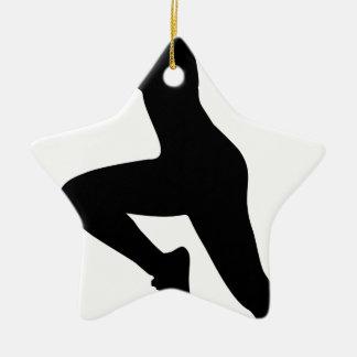Ornement Étoile En Céramique Silhouette de femme de forme physique