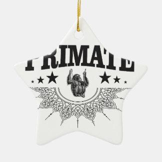 Ornement Étoile En Céramique singe dans l'art d'étiquette