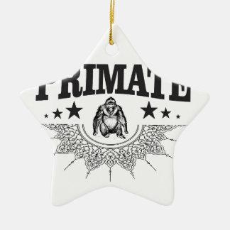 Ornement Étoile En Céramique singe de singe de primat