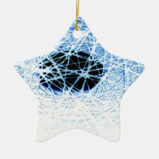 Ornement Étoile En Céramique Snowball
