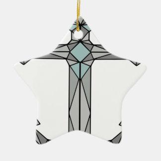 Ornement Étoile En Céramique Souillez la basse poly ancre en verre