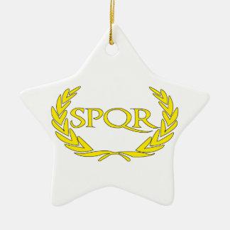 Ornement Étoile En Céramique SPQR Roma