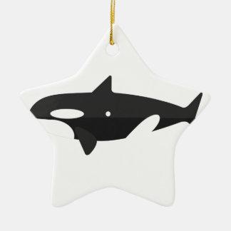 Ornement Étoile En Céramique Style de primitif de baleine d'orque