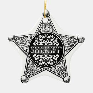 Ornement Étoile En Céramique Style occidental d'insigne d'étoile de shérif