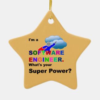 Ornement Étoile En Céramique Super héros de Software Engineer