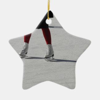 Ornement Étoile En Céramique Sur la glace
