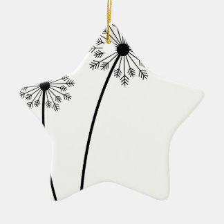 Ornement Étoile En Céramique T-shirt Flowres