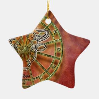 Ornement Étoile En Céramique taureau de signe de zodiaque