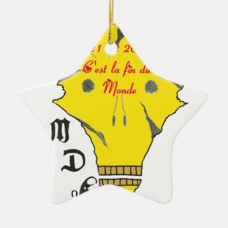Ornement Étoile En Céramique TDM 21 12 2012 C EST LA FIN DU MONDE.png