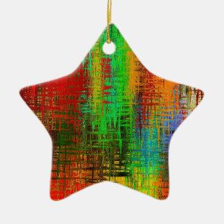 Ornement Étoile En Céramique teignez en nouant la texture