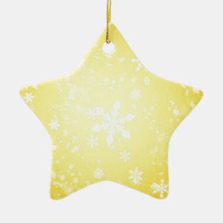 Ornement Étoile En Céramique temps de joie de Noël