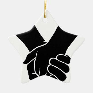 Ornement Étoile En Céramique Tenir des mains