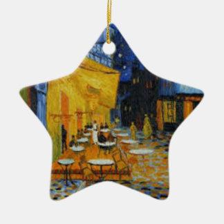 Ornement Étoile En Céramique Terrasse de Café le nuit de Vincent Van Gogh