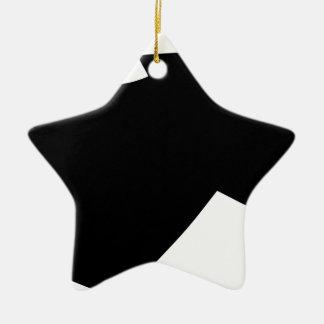 Ornement Étoile En Céramique Tête de cheval en vent