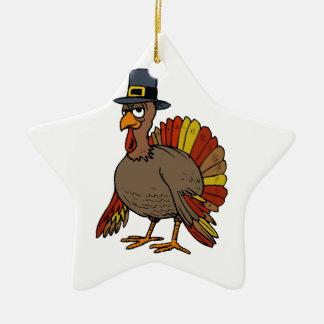 Ornement Étoile En Céramique Thanksgiving Turquie