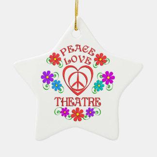 Ornement Étoile En Céramique Théâtre d'amour de paix