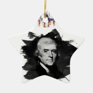 Ornement Étoile En Céramique Thomas Jefferson