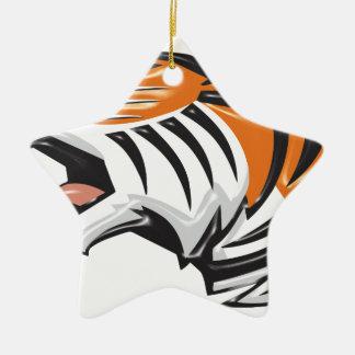 Ornement Étoile En Céramique tiger3
