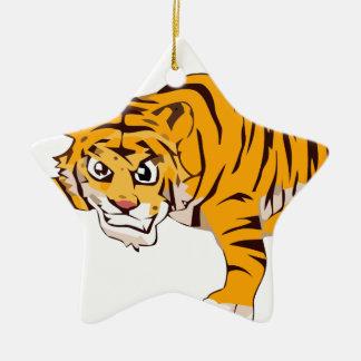 Ornement Étoile En Céramique tiger4