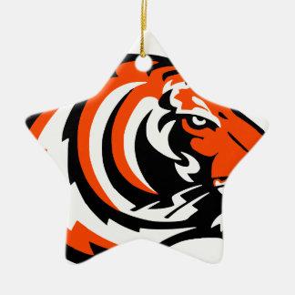 Ornement Étoile En Céramique tigre