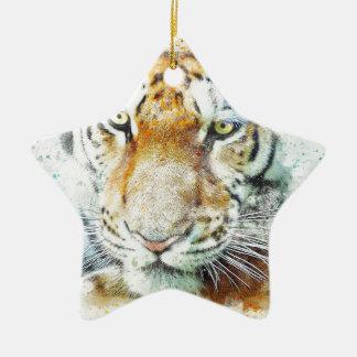 Ornement Étoile En Céramique tigre de conception d'art