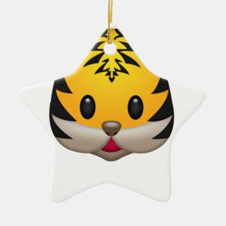 Ornement Étoile En Céramique Tigre mignon Emoji