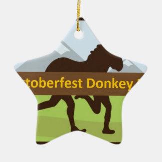 Ornement Étoile En Céramique Tiret d'âne de Donktoberfest