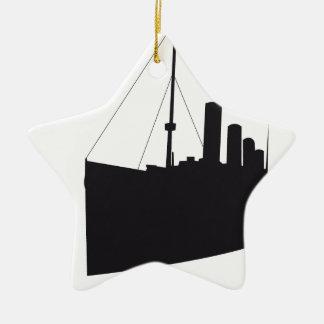 Ornement Étoile En Céramique titanic ombre
