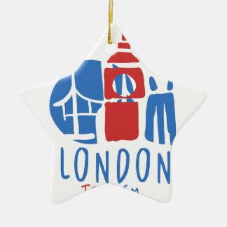 Ornement Étoile En Céramique Tourisme de Londres