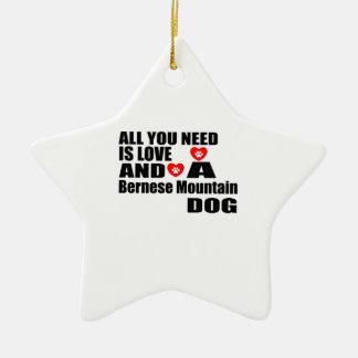 Ornement Étoile En Céramique Tous vous avez besoin de la conception de chiens