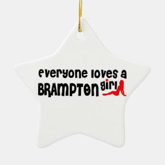 Ornement Étoile En Céramique Tout le monde aime une fille de Brampton