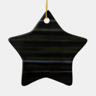 Ornement Étoile En Céramique traits horizontaux en bois