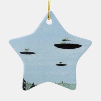 Ornement Étoile En Céramique Trio d'UFO