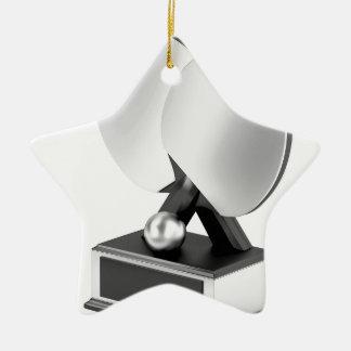 Ornement Étoile En Céramique Trophée argenté de ping-pong