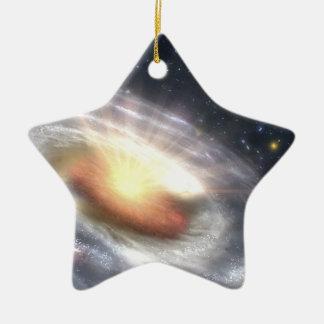 Ornement Étoile En Céramique Trou noir de quasar de NASAs