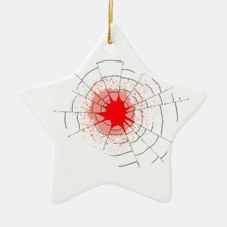 Ornement Étoile En Céramique Trous de balle simples en verre