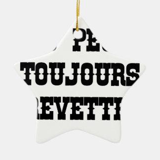 Ornement Étoile En Céramique TU PEUX TOUJOURS CREVETTE ! - Jeux de Mots