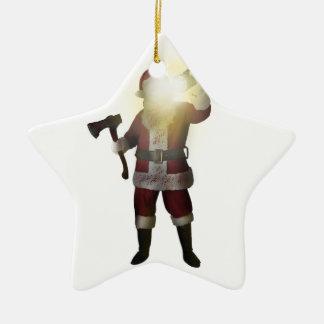 Ornement Étoile En Céramique Tueur de Père Noël
